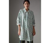 Lange Bluse aus Baumwollseide