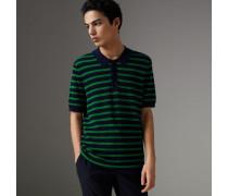 Poloshirt aus Baumwolle mit Streifenmuster