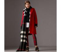 Körperbetonter Mantel aus Wolle und Kaschmir