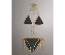 Triangelbikini mit Vintage Check-Details