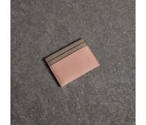 Kartenetui aus Leder in Zweitonoptik
