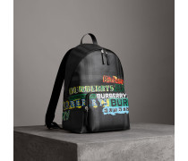 Rucksack in London Check mit -Logo