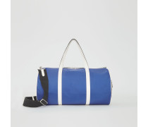 Große Barrel Bag im Vintage Check- und Colour-Blocking-Design