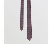 Schmal geschnittene Krawatte aus Seidenjacquard