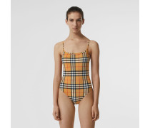 Badeanzug im Vintage Check-Design