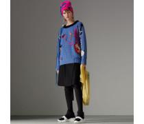 Pullover aus Wolle in Lochmusteroptik