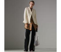 Tailliertes Jackett aus Baumwolle und Leinen