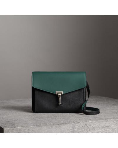 Crossbody-Tasche aus Leder in Zweitonoptik