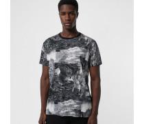 Baumwoll-T-Shirt mit Fantasielandschaft