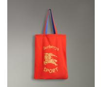 Großer Shopper aus Jersey mit Vintage-Logo