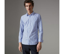 Körperbetontes Fil Coupé-Hemd aus Baumwolle