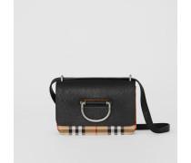 The Mini D-Ring Bag aus Vintage Check-Gewebe und Leder