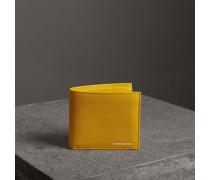 Faltbrieftasche aus genarbtem Leder für alle Währungen