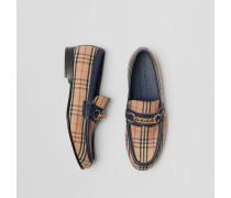 Loafer im Karodesign mit Kettendetail von 1983