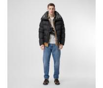 Wattierte Jacke mit Kapuze und abnehmbaren Ärmeln