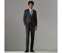 Schmal geschnittener Anzug aus Wolle und Seide in Prince of Wales Check