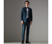 Anzug aus Seidenjacquard mit geometrischem Muster