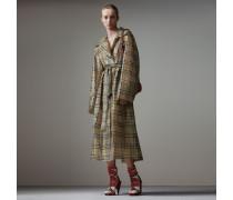 Einreihiger Mantel aus Plastik im Vintage Check-Design
