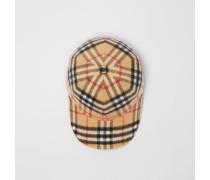 Basecap aus Wolle im Vintage Check-Design