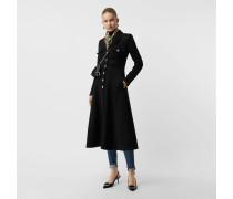 Eleganter Mantel aus einer gebondeten Baumwolljersey-Mischung