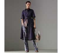 Kleid aus Stretchbaumwolle mit Steppnähten