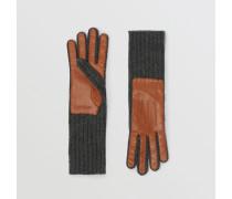 Handschuhe aus Kaschmir und Lammleder