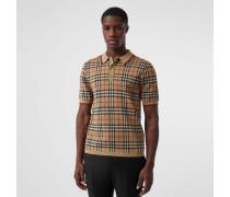 Poloshirt aus Merinowolle mit Vintage Check-Muster