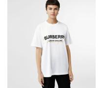 Baumwoll-T-Shirt mit überlagertem -Logo
