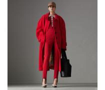 Oversize-Kurzmantel aus Wolle und Kaschmir