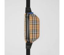 Mittelgroße Bauchtasche aus Vintage Check-Gewebe