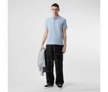 Poloshirt aus Baumwollpiqué mit Monogrammmotiv