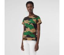T-Shirt aus Baumwolljersey mit Camouflage-Muster