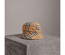 Fischerhut mit Vintage Check-Muster