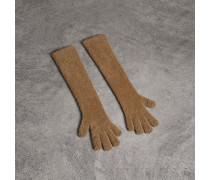 Lange Handschuhe aus Chenille