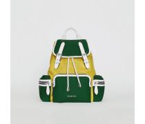 The Medium Rucksack aus Nylon und Leder im Colour-Blocking-Design