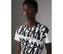 Baumwoll-T-Shirt mit Graffitimuster