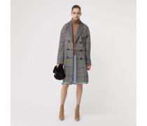 Mantel im Karodesign aus doppelseitig gewebter Wolle und Kaschmir