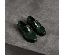 Loafer aus Leder mit Kiltie-Fransen