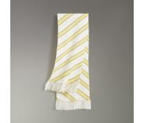 Schal aus Wolle und Kaschmir mit Streifenmuster