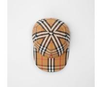 Basecap mit Vintage Check-Muster