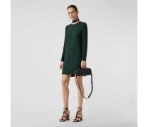 Shiftkleid aus Seide und Wolle in Zweitonoptik