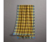 Schal aus Wolle und Seide mit Karomuster