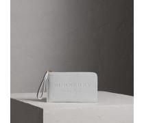 Reisebrieftasche aus Leder mit Prägedetail