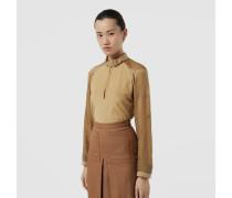 Bluse aus Baumwollseide mit Aussparungsdetail