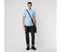 Kurzärmeliges Hemd aus Stretchbaumwolle