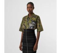Kurzärmelige Oversize-Bluse aus Baumwolle