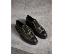 Derby-Schuhe aus Leder mit Steppnähten