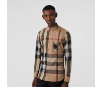 Hemd aus einer Stretchbaumwollmischung im Karodesign