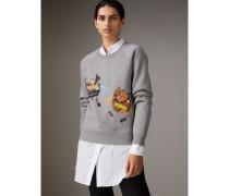 Sweatshirt aus Jersey mit witzigem Motiv