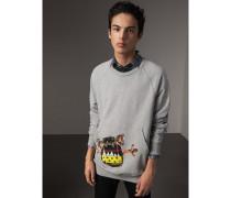 Sweatshirt aus Jersey mit Applikation